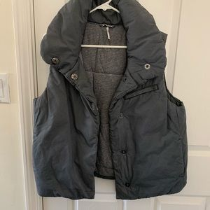 Free People Grey Pillow Puffer Vest